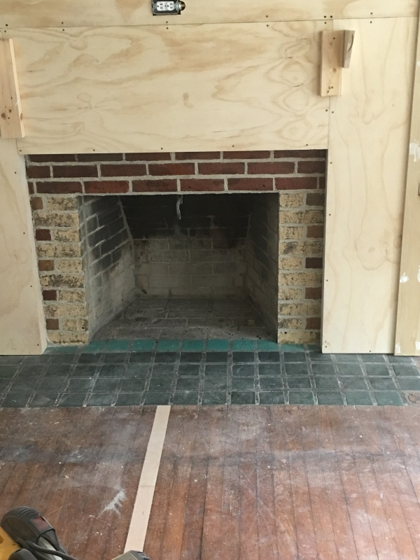 dill finished fireplace